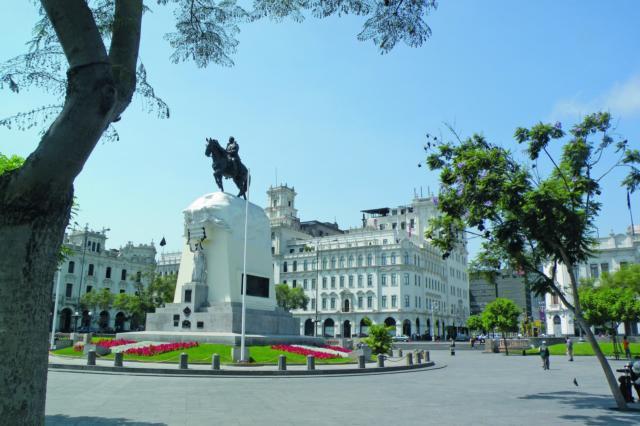 PERU LIMA PLAZA SAN MARTIN CITYTOUR