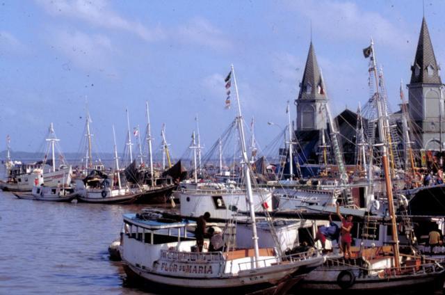 brasilien belem stadt hafen schiffe