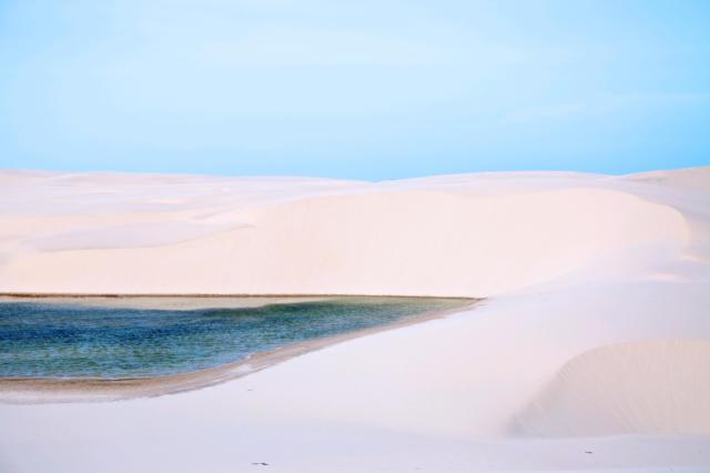lençois maranhenses lagoa azul brasilien