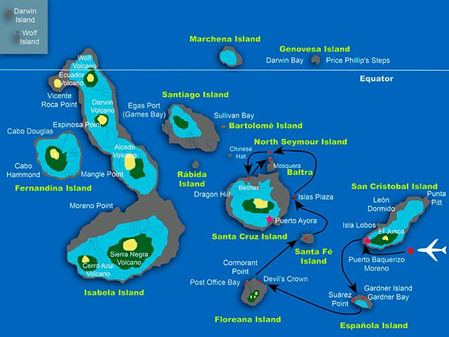 SEASTAR MAP ROUTE A